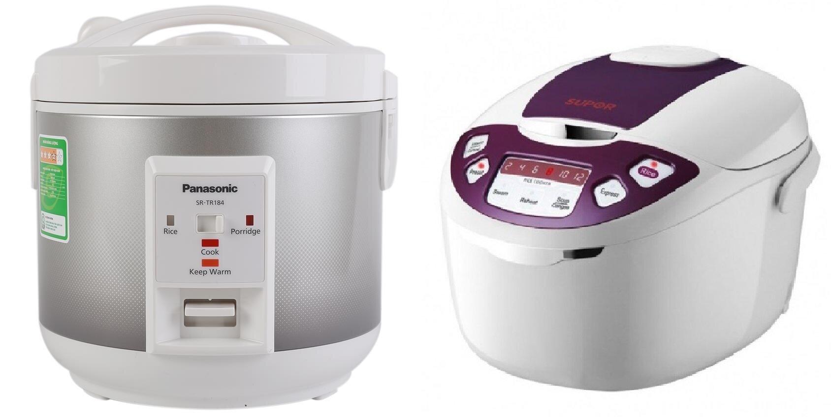 So sánh nồi cơm điện Panasonic SR-TR184SRA và nồi cơm điện Supor CFXB50FD11VN-75