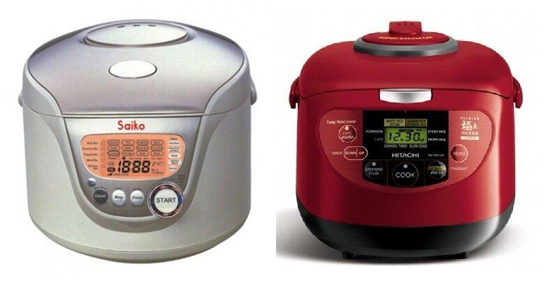 So sánh nồi cơm điện Saiko RC-1805ET và nồi cơm điện Hitachi RZ-XM18Y