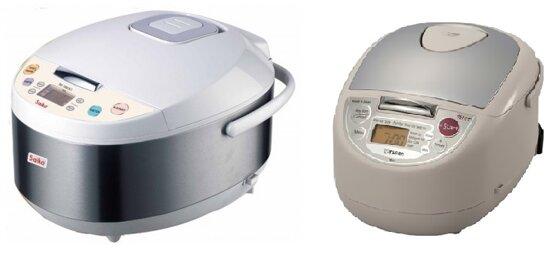 So sánh nồi cơm điện Saiko RC-1807ET và nồi cơm điện Tiger JBA-T18W