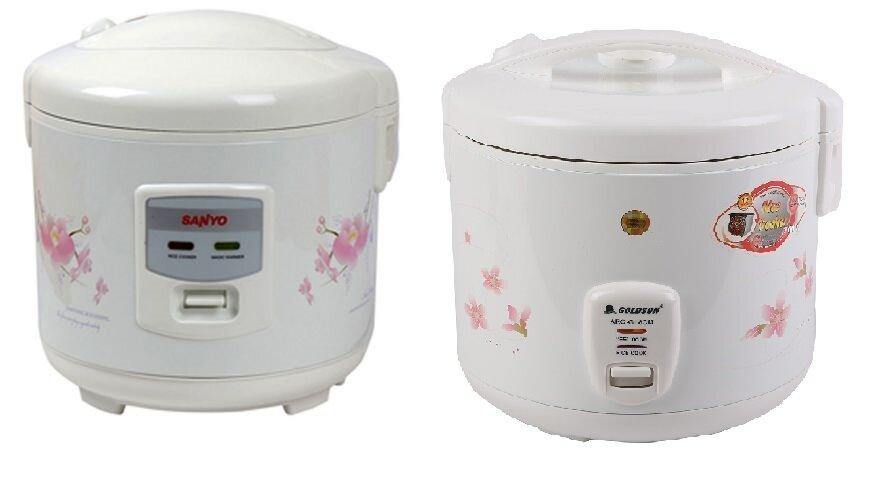 So sánh nồi cơm điện Sanyo ECJ-SP18AWF và nồi cơm điện Goldsun ARCG18CM