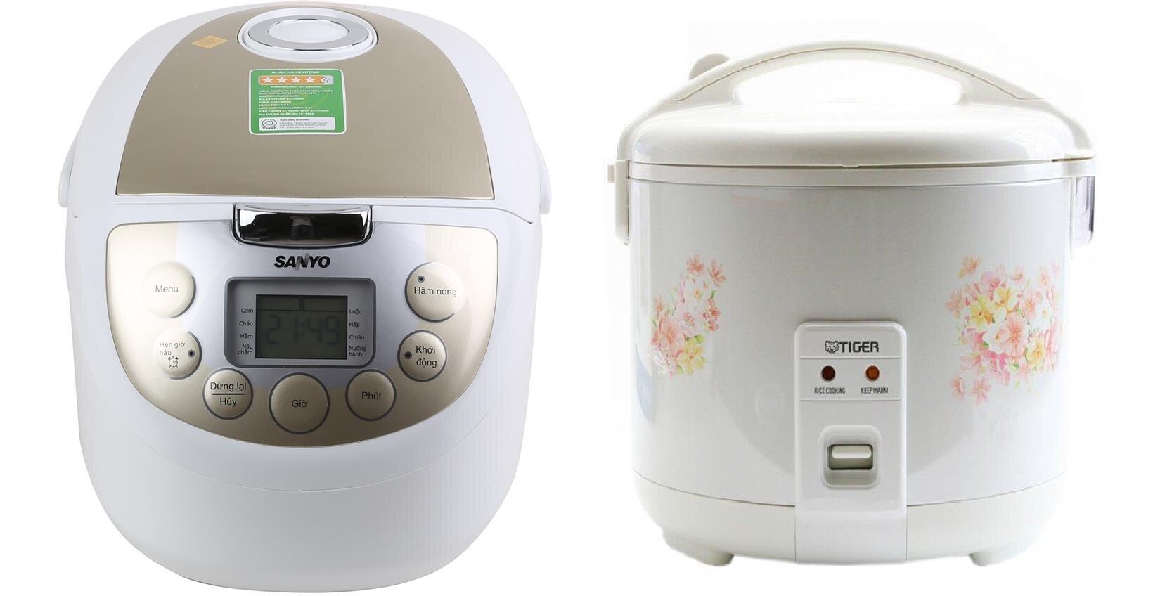 So sánh nồi cơm điện Sanyo ECJM200 và nồi cơm điện Tiger JNP1000
