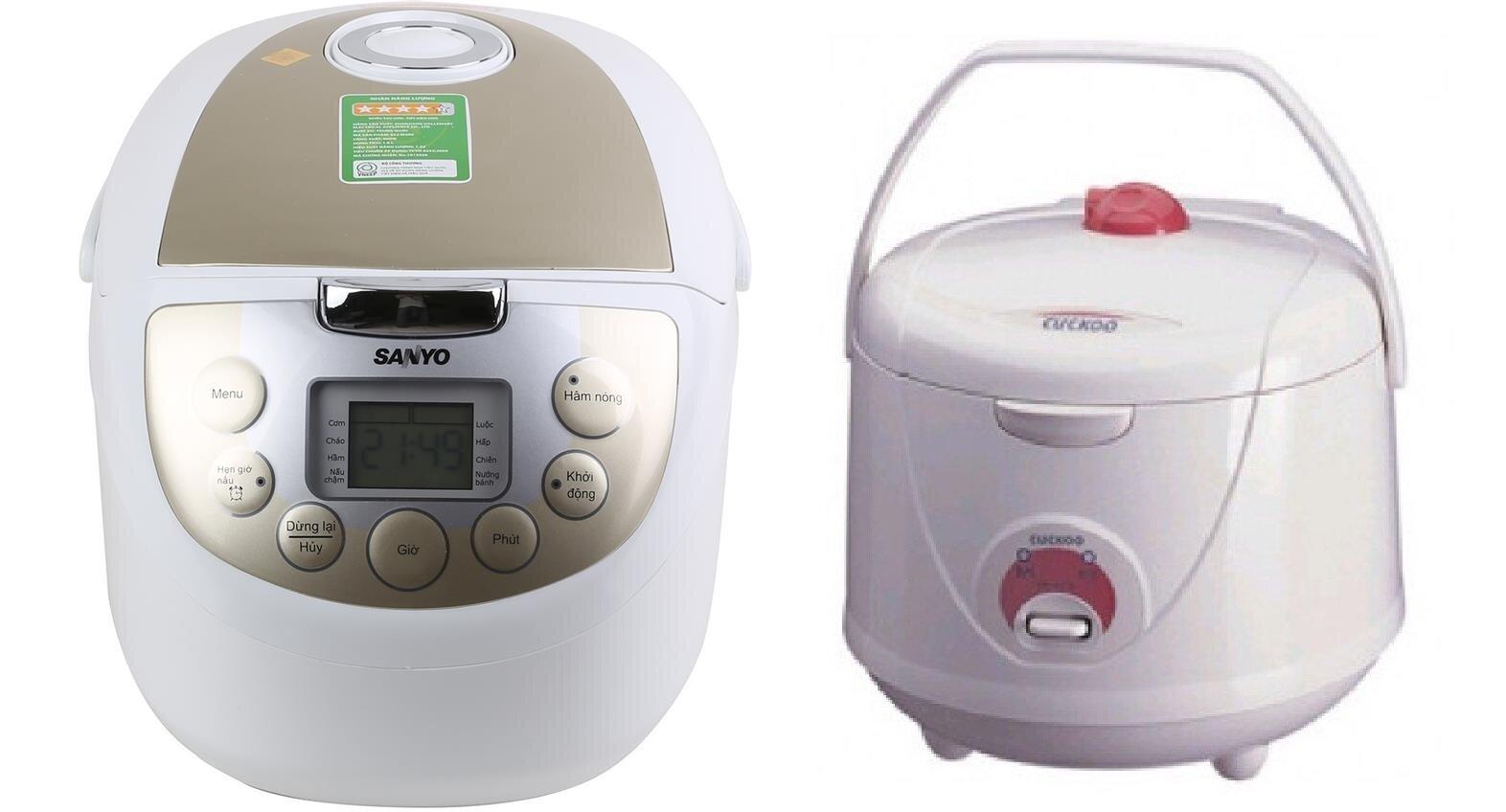 So sánh nồi cơm điện Sanyo ECJM200 và nồi cơm điện Cuckoo CR1021