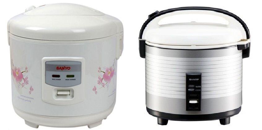 So sánh nồi cơm điện Sanyo ECJ-SP18AWF và nồi cơm điện Sharp KS-1800