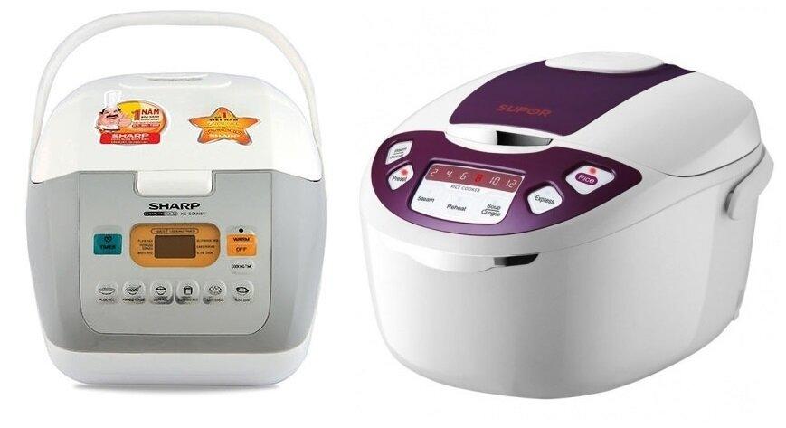 So sánh nồi cơm điện Sharp KS-COM18V/W và nồi cơm điện Supor CFXB50FD11VN-75
