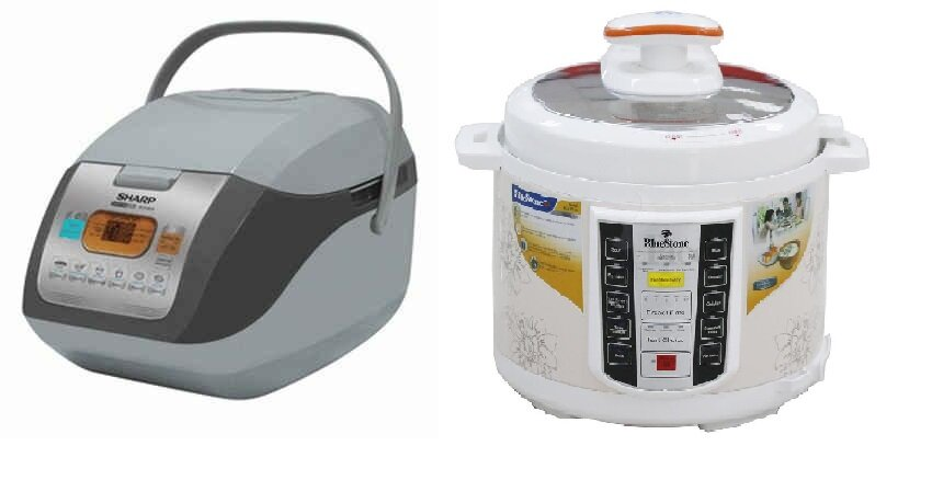 So sánh nồi cơm điện Sharp KS-COM19V và nồi cơm điện Bluestone PCB5751D