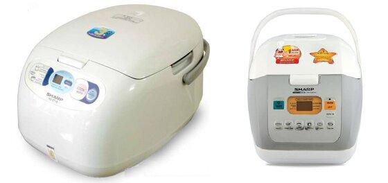 So sánh nồi cơm điện Sharp KS-ZT18V và nồi cơm điện Sharp KS-COM18V/W