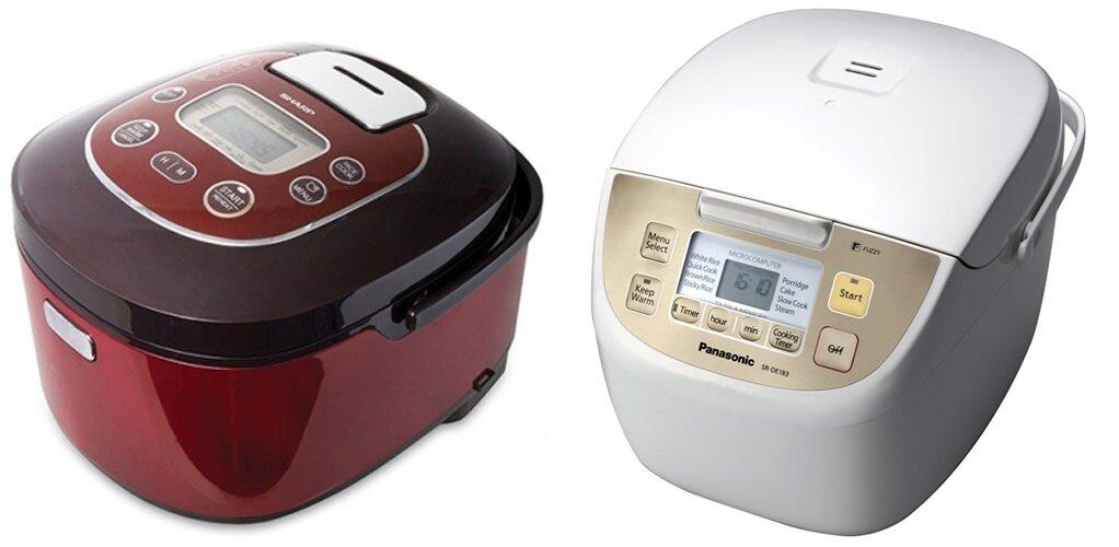 So sánh nồi cơm điện Sharp KSTH18 và nồi cơm điện Panasonic SR-DE183