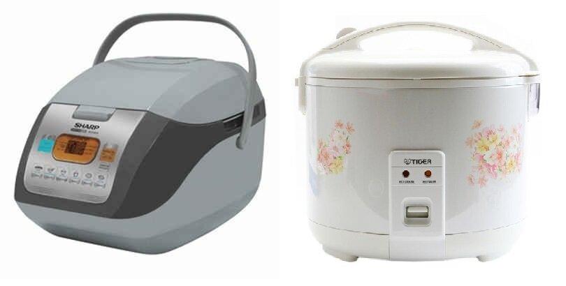 So sánh nồi cơm điện Sharp KS-COM19V và nồi cơm điện Tiger JNP1000