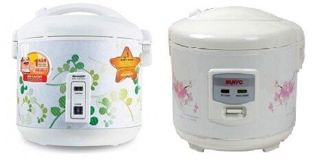 So sánh nồi cơm điện Sharp KS-181EV và nồi cơm điện Sanyo ECJ-SP18AWF