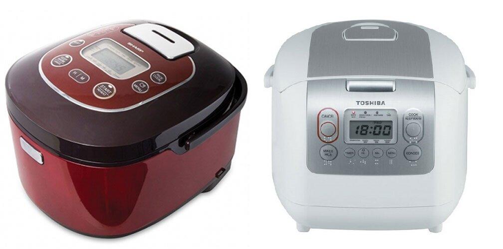 So sánh nồi cơm điện Sharp KSTH18 và nồi cơm điện Toshiba RC-18NMF