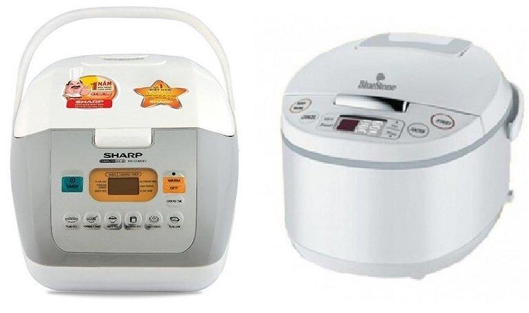 So sánh nồi cơm điện Sharp KS-COM18V/W và nồi cơm điện Bluestone RCB-5925W