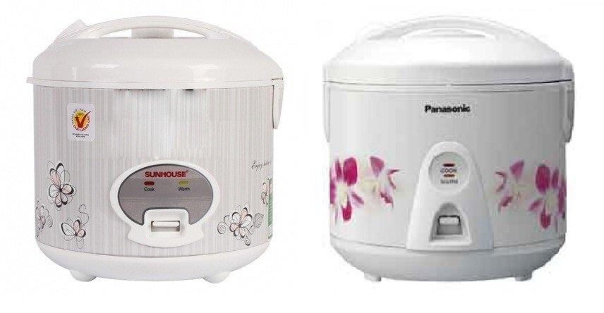 So sánh nồi cơm điện Sunhouse SHD8613 và nồi cơm điện Panasonic SR-TEJ18