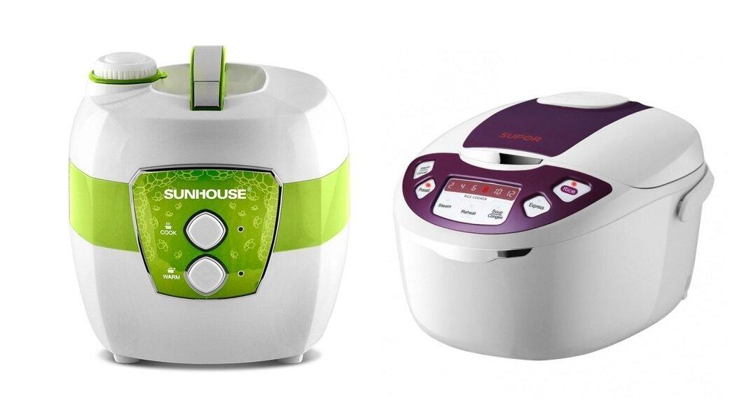 So sánh nồi cơm điện Supor CFXB50FD11VN-75 và nồi cơm điện Sunhouse SHD8620