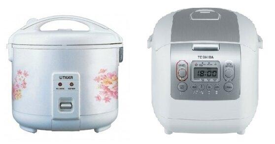 So sánh nồi cơm điện Tiger JNP1800 và nồi cơm điện Toshiba RC-18NMF