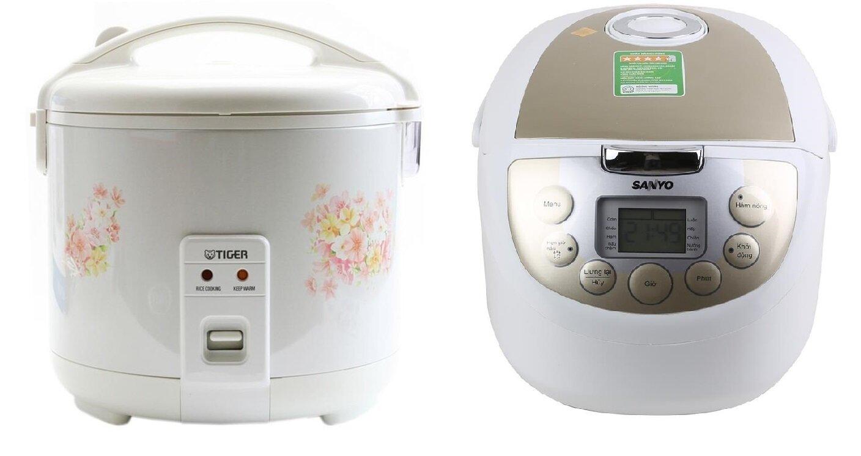 So sánh nồi cơm điện Tiger JNP1800 và nồi cơm điện Sanyo ECJM200
