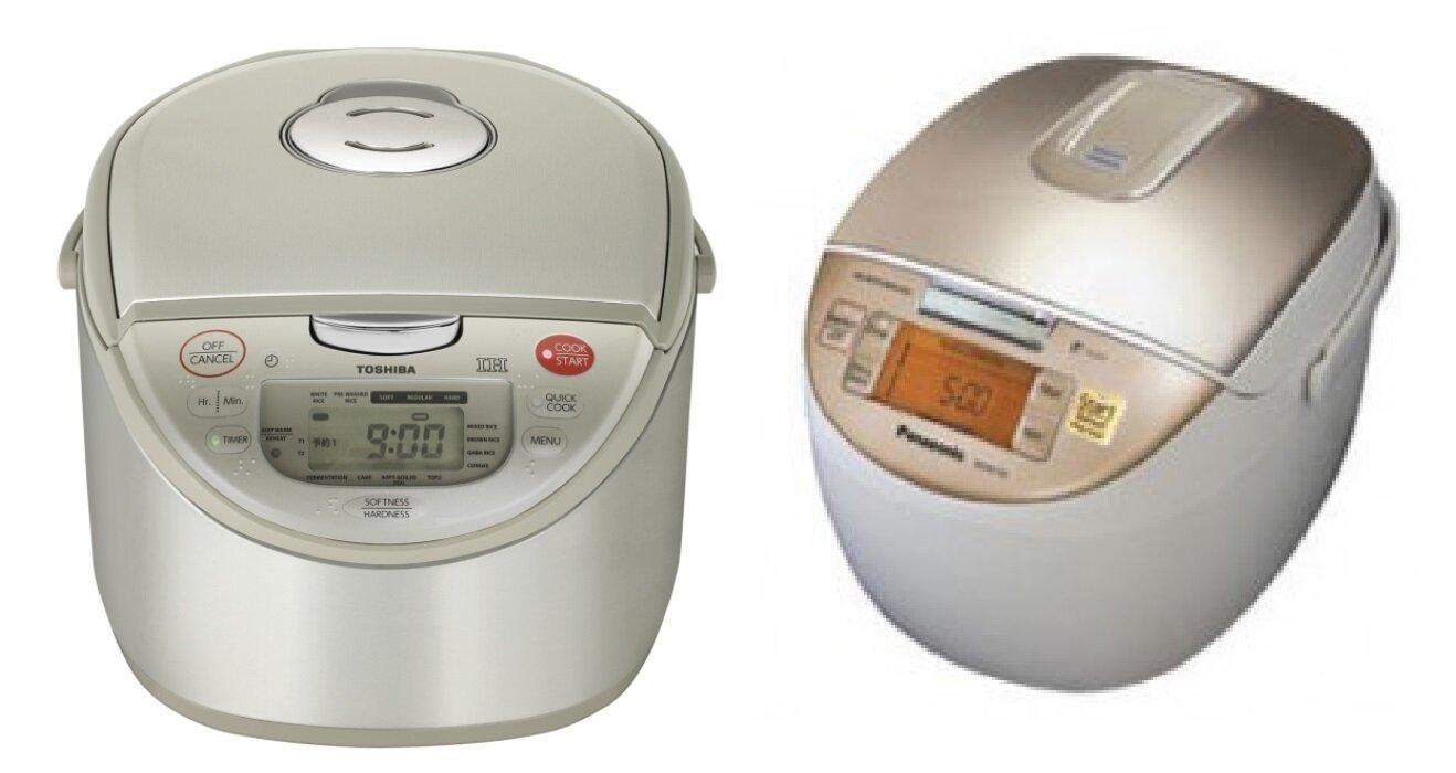 So sánh nồi cơm điện Toshiba RC18RHW và nồi cơm điện Panasonic SR-MG182