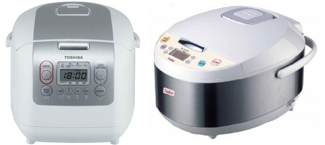 So sánh nồi cơm điện Toshiba RC-18NMF và nồi cơm điện Saiko RC-1807ET