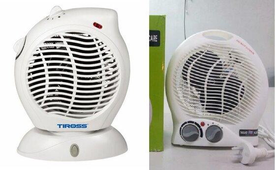So sánh quạt sưởi Tiross TS-945 và quạt sưởi mini Facare TWFH A02