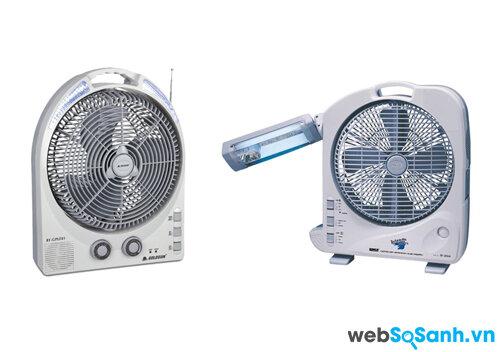 So sánh quạt tích điện Goldsun RF-GPLF81 và quạt tích điện Sunca SF-292A