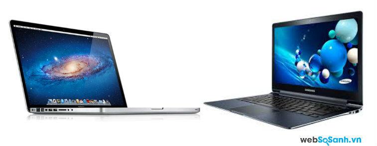 So sánh Samsung ATIV Book 9 Plus và  Apple MacBook Pro màn hình Retina (2012)