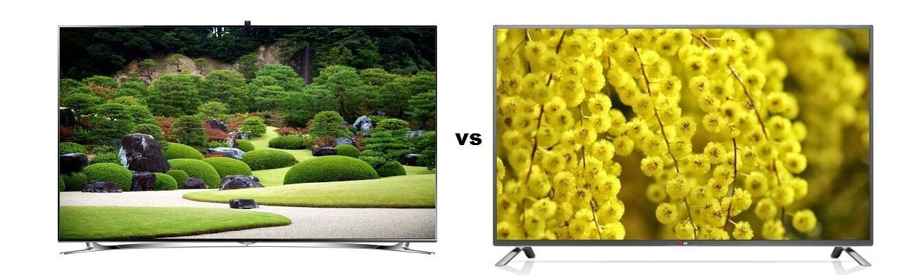 So sánh Smart Tivi LED 3D Samsung UA55F9000 và Smart Tivi LED 3D LG 60LB650T