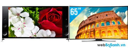 So sánh Smart Tivi LED 4K độc đáo Samsung UA65HU8700 và Sony KD-65X9000B