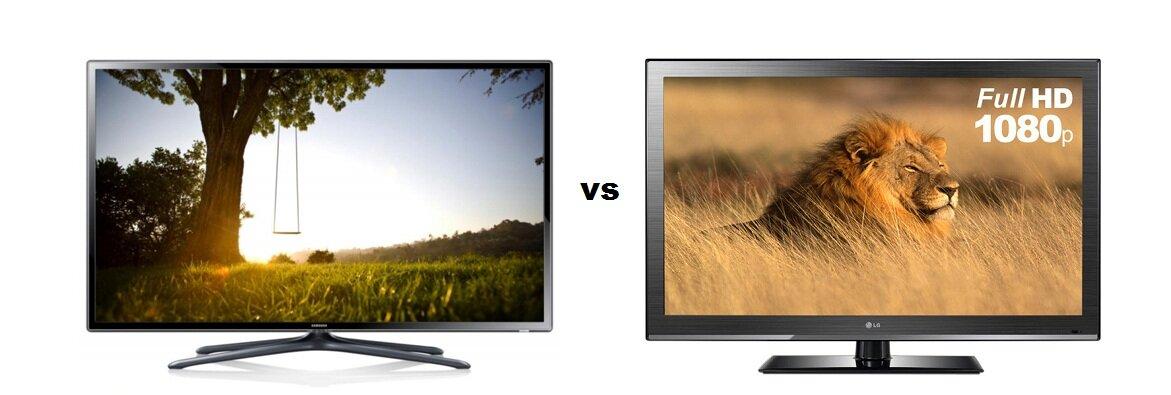 So sánh Smart Tivi LED Samsung UA40F5500 và Tivi LCD LG 42CS460