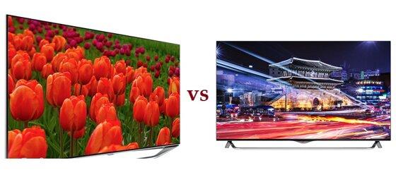 So sánh Smart Tivi LED Samsung UA55H7000 và Tivi LED 3D LG 49UB850T 4K – UHD