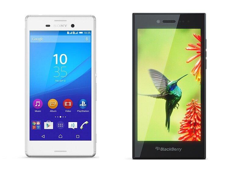 So sánh smartphone BlackBerry Leap và Sony Xperia M4 Aqua