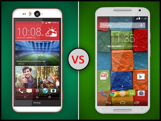So sánh smartphone HTC Desire Eye và Motorola Moto X phiên bản 2014