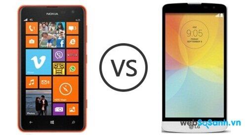 So sánh smartphone tầm trung LG L Bello và Nokia Lumia 625
