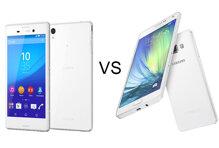 So sánh smartphone tầm trung Galaxy A7 và Sony Xperia M4 Aqua