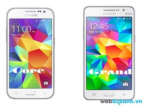 So sánh smartphone tầm trung Galaxy Core Prime và Galaxy Grand Prime của Samsung