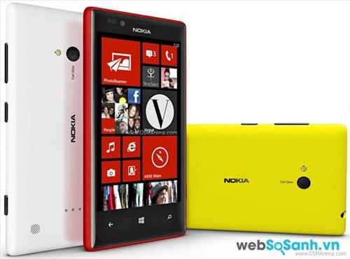 So sánh smartphone thông số kỹ thuật Nokia Lumia 625 và Lumia 720