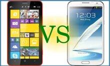 So sánh sơ bộ Nokia Lumia 1320 và Samsung Galaxy Note 2