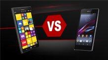 So sánh Sony Xperia Z1 và Nokia Lumia 1520: Chọn mua smartphone cao cấp giá rẻ