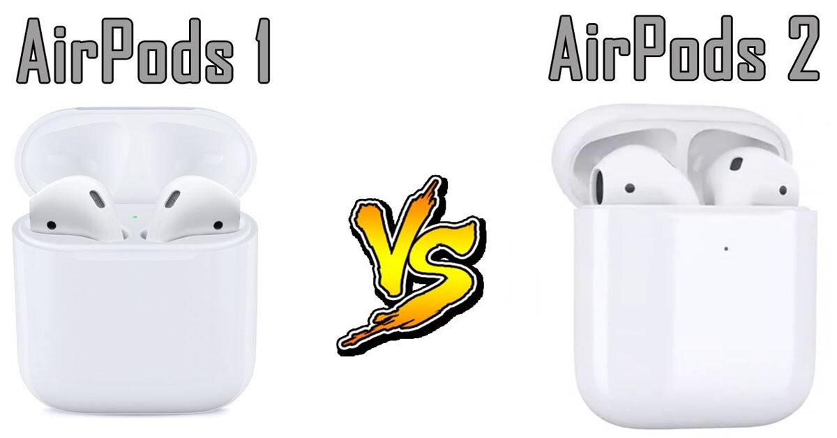 So sánh sự khác biệt giữa tai nghe Apple AirPods 2 và AirPods thế hệ đầu