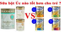 So sánh sữa Blackmores và Aptamil của Úc : Sữa nào tốt hơn cho trẻ ?
