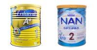 So sánh sữa bột Enfamil và sữa bột Nan Nga