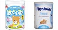 So sánh sữa bột Morinaga và sữa bột Physiolac