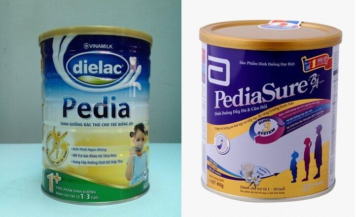 So sánh sữa bột Vinamilk Dielac Pedia và Abbott Pediasure B/A cho trẻ biếng ăn, nhẹ cân