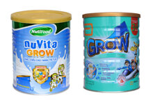 So sánh sữa NuVita Grow của Nutifood với Grow Singapore của Abbott