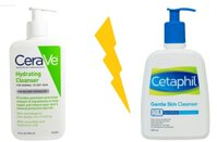 So sánh sữa rửa mặt Cetaphil Gentle Skin và sữa mặt CeraVe Hydrating