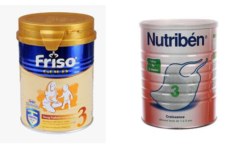 So sánh sữa sữa bột Nutriben 3 với sữa bột Friso Gold 3