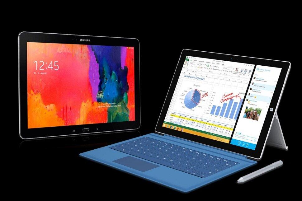 So sánh Surface Pro 3 và Samsung Galaxy Note Pro 12.2