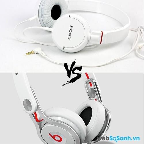 So sánh tai nghe Sony MDR-ZX100 và Beats MixR: tai nghe tầm trung thời trang và chất lượng