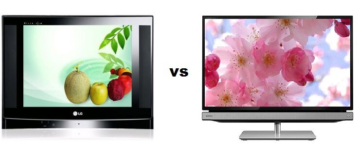 So sánh Tivi CRT LG 29FU1RL và Tivi LED Toshiba 24P2300