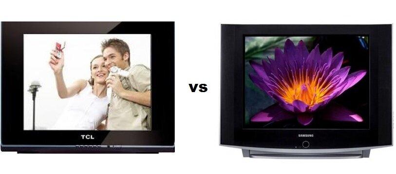 So sánh Tivi CRT TCL 21F9C – 21 inch và Tivi CRT Samsung Slimfit CS-21A530