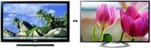 So sánh Tivi LCD Samsung LA52B550K1R và Tivi LED 3D Sony KDL-55W804A