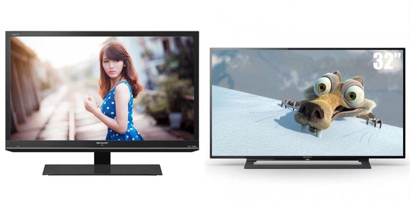 So sánh tivi LED giá rẻ Sharp LC-32LE155D2 và Sony KDL-32R300BVN3